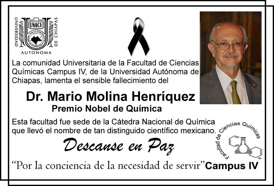 Descanse en Paz Dr. Mario Molina Henriquez