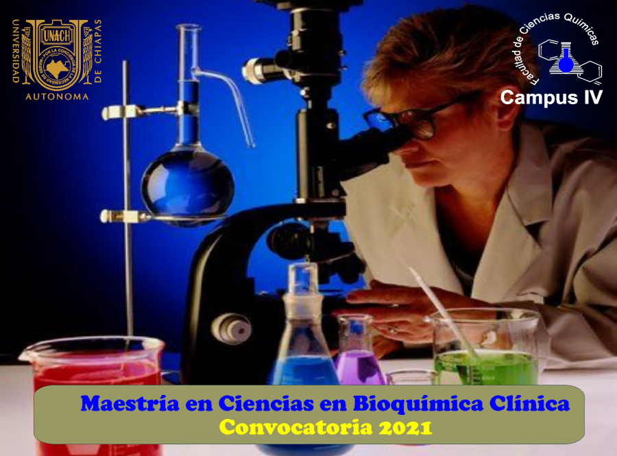Convocatoria de la Maestría en Ciencias en Bioquímica Clínica 2020