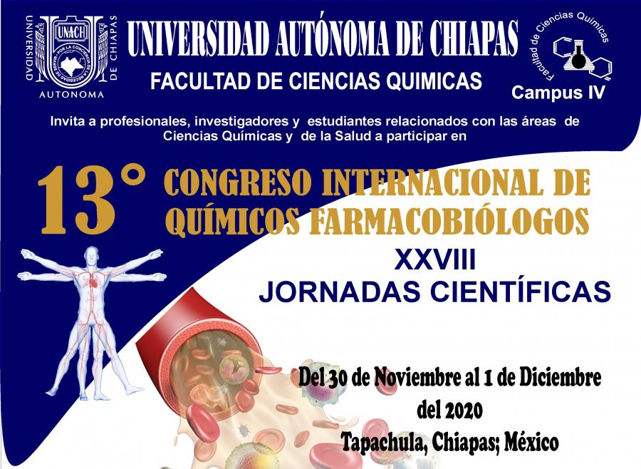 13° CONGRESO INTERNACIONAL DE QUIMICOS FARMACOBIÓLOGOS Y XXVIII JORNADAS CIENTÍFICAS