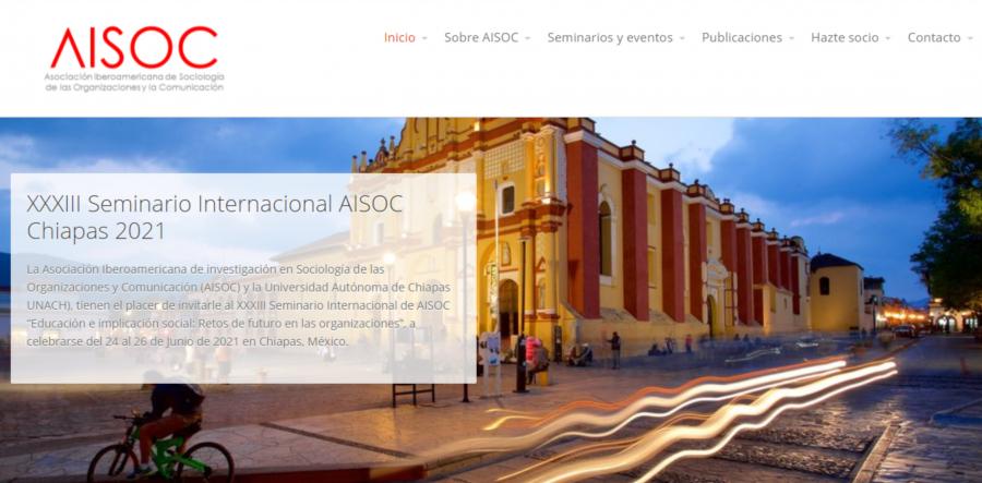 """XXXIII Seminario Internacional de AISOC """"Educación e implicación social: Retos de futuro en las organizaciones"""""""