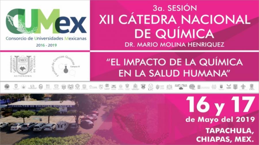 INSCRIPCIONES XII Cátedra Nacional de Química Mario Molina Henríquez 3a Sesión